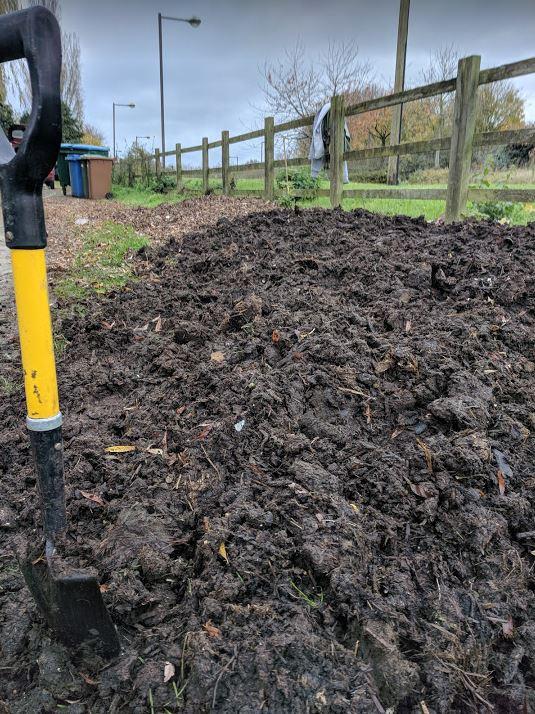 Compost-rich manure