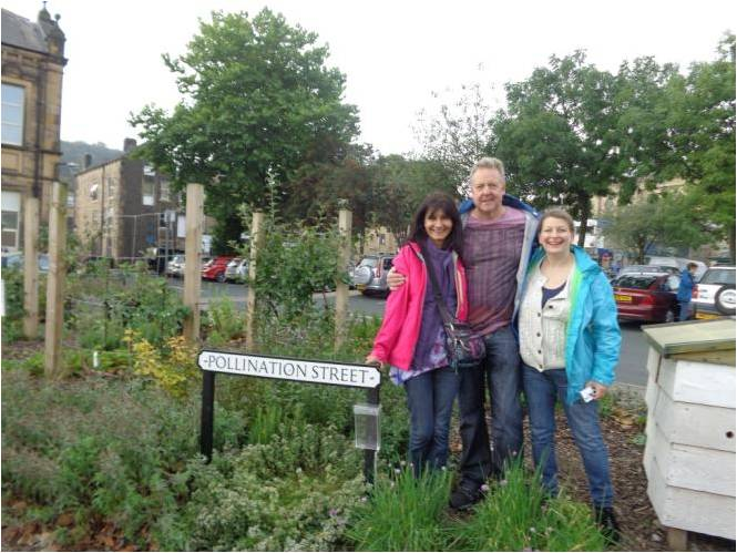 IE Dunstable members on Pollination St Todmorden