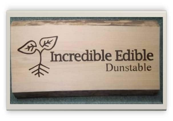 Incredible Edible Dunstable sign
