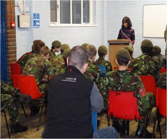 Sahira meets the Army Cadets