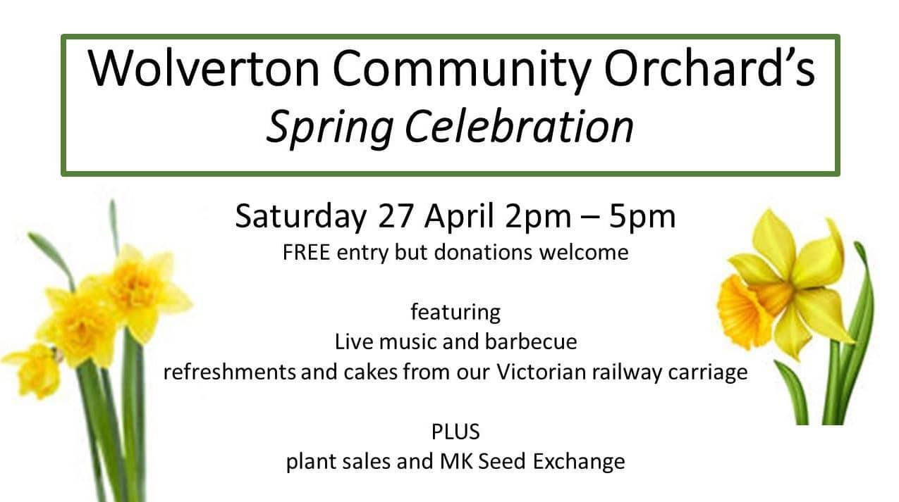 Wolverton Community Orchard spring celebration