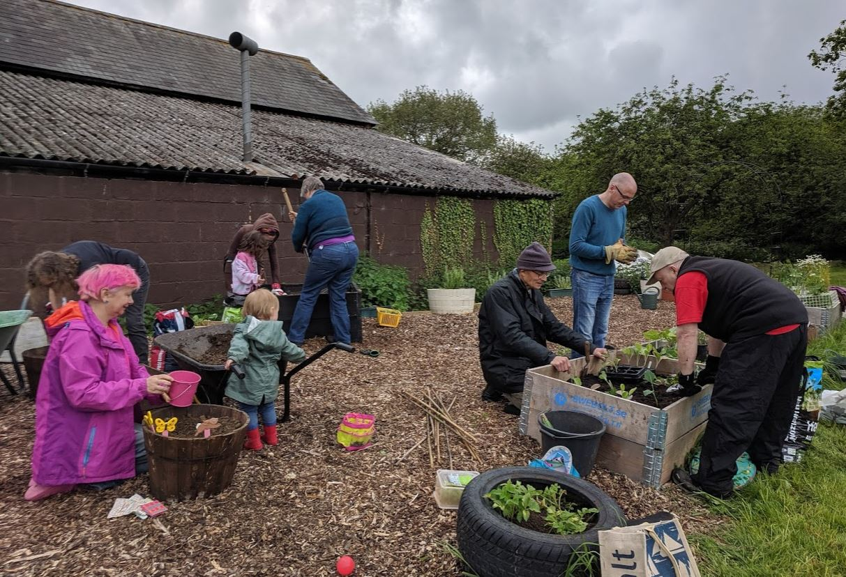 PLANTING UP our permaculture community garden in MK