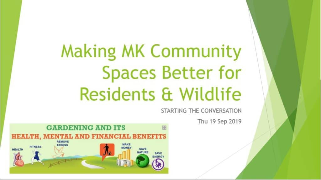 Making MK Community Spaces Better for Residents & Wildlife